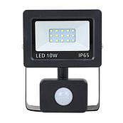 Прожектор LED NEOMAX 10W 220V IP65 6000K з сенсором SLIM