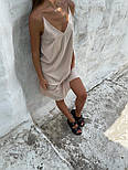 Базовый сарафан летний свободный на тонких бретелях длиной миди (р. S-L) 83032517, фото 2