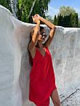 Базовый сарафан летний свободный на тонких бретелях длиной миди (р. S-L) 83032517, фото 7