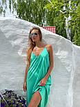 Базовый сарафан летний свободный на тонких бретелях длиной миди (р. S-L) 83032517, фото 9