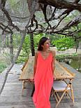 Базовый сарафан летний свободный на тонких бретелях длиной миди (р. S-L) 83032517, фото 10