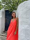 Базовый сарафан летний свободный на тонких бретелях длиной миди (р. S-L) 83032517, фото 8