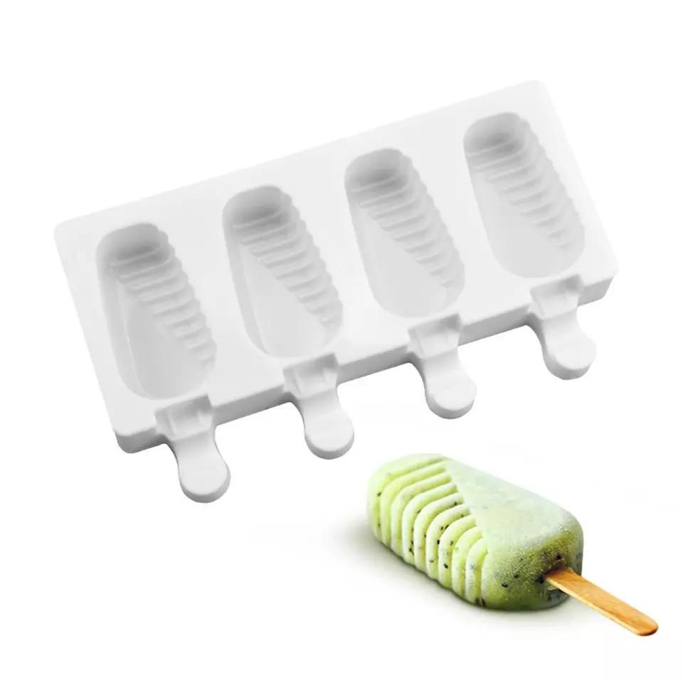 Форма силіконова для морозива 4 шт Половинки