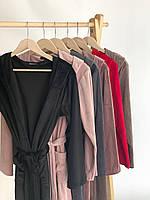 Женский плюшевый халат оптом и в розницу S бордо