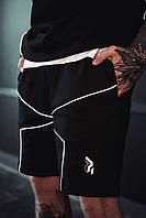 Шорты карго мужские Огонь Пушка Xeed с рефлективом черные, фото 1