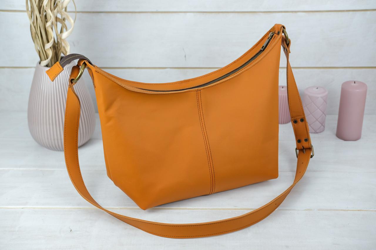 Жіноча сумка Місяць, шкіра Grand, колір Бурштин