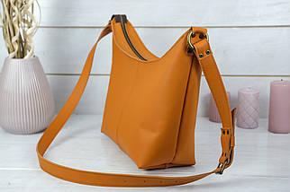 Жіноча сумка Місяць, шкіра Grand, колір Бурштин, фото 3