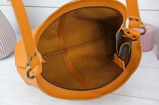 Жіноча сумка Місяць, шкіра Grand, колір Бурштин, фото 2