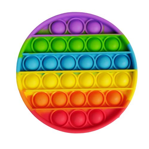 Антистресс игрушка Pop It силиконовый поп ит радужный фиджет для рук пупырка, круг