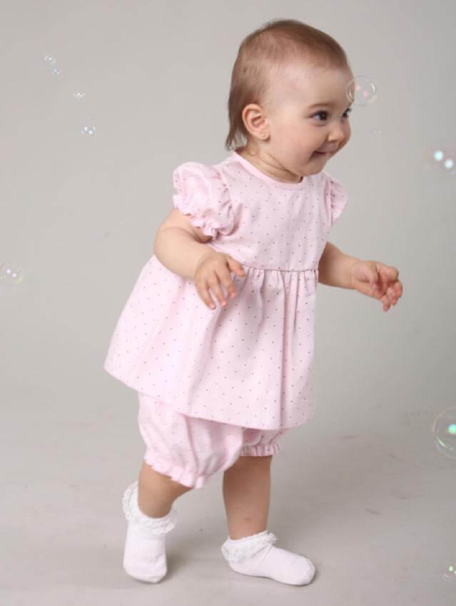 Комплект летней одежды для девочки Нюша розовый
