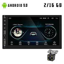 Автомагнитола 2DIN 8018 ANDROID 9.0 GPS WI-FI USB магнітола 2 дін в авто магнітофон магнитола 2-DIN магнитофон