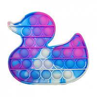 """Игрушка-антистресс """"POP-IT"""" PPT-D(Blue-Pink) Уточка Синие-Розовый"""