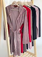 Женский плюшевый халат оптом и в розницу M бордо