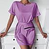 Трикотажне коротке плаття з сумочкою 054 В / 01