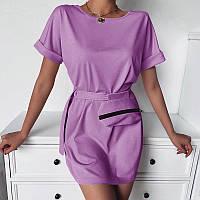 Трикотажное короткое платье с сумочкой  054 В /05, фото 1