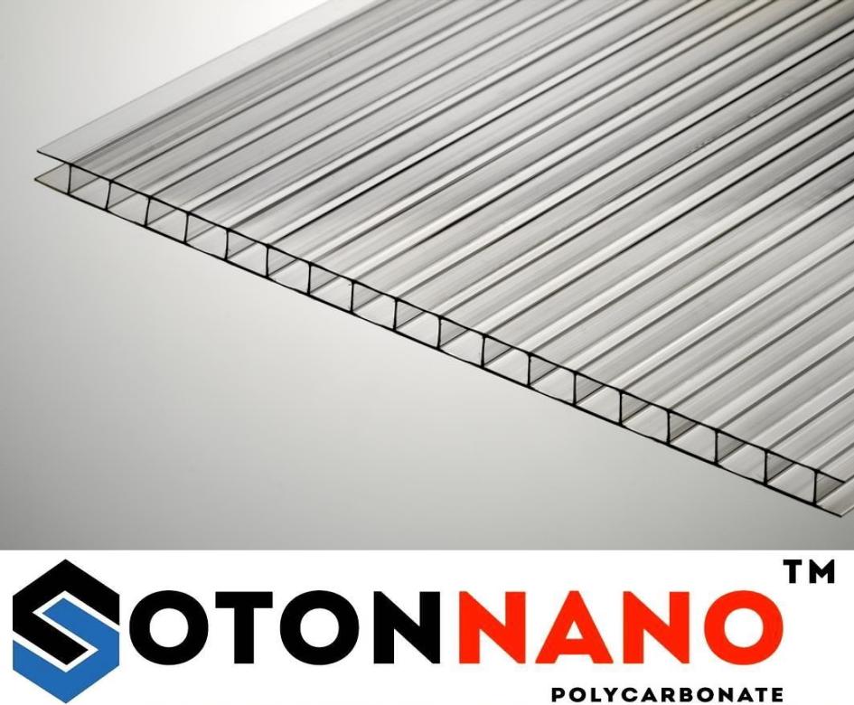 Полікарбонат стільниковий Soton Nano 6мм