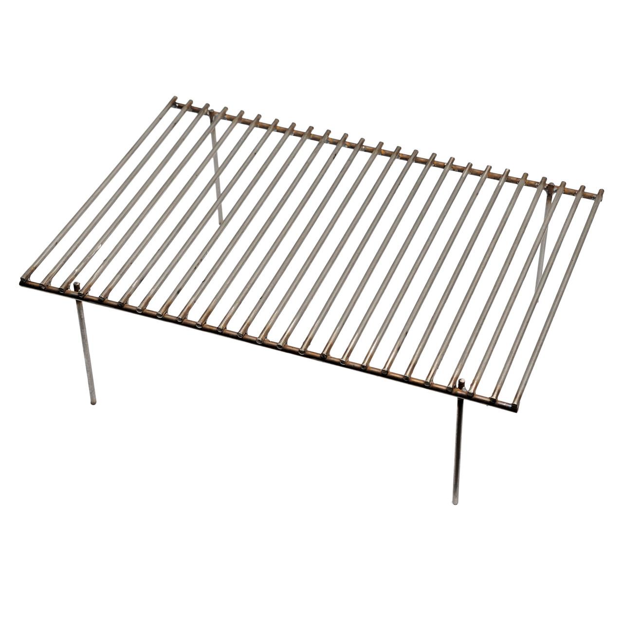 Решетка-гриль металлическая 400х280х130мм для мангала, гриля, барбекю из нержавеющей стали