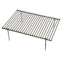 Решетка-гриль металлическая 400х280х130мм для мангала, гриля, барбекю из нержавеющей стали, фото 1