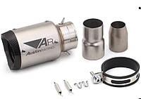 Глушник-прямоток Austin Racing, 18 cm, нержавіюча сталь, матовий, фото 1
