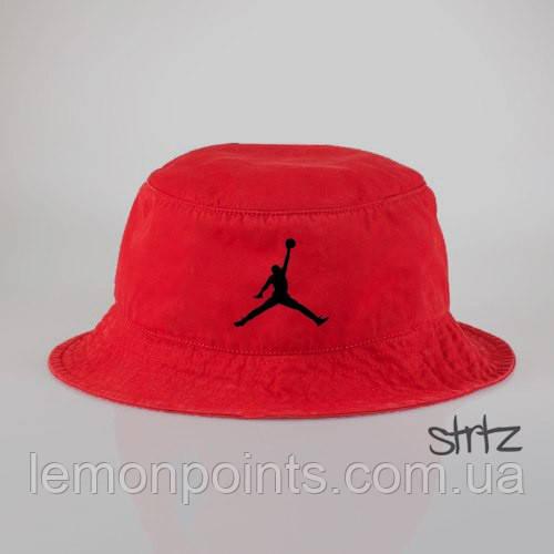 Панамка Air Jordan летняя хлопковая красная