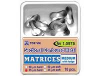 Матриці ТОР № 1.0975 середні з виступом контурні металеві секційні 50 мк, 10 шт.