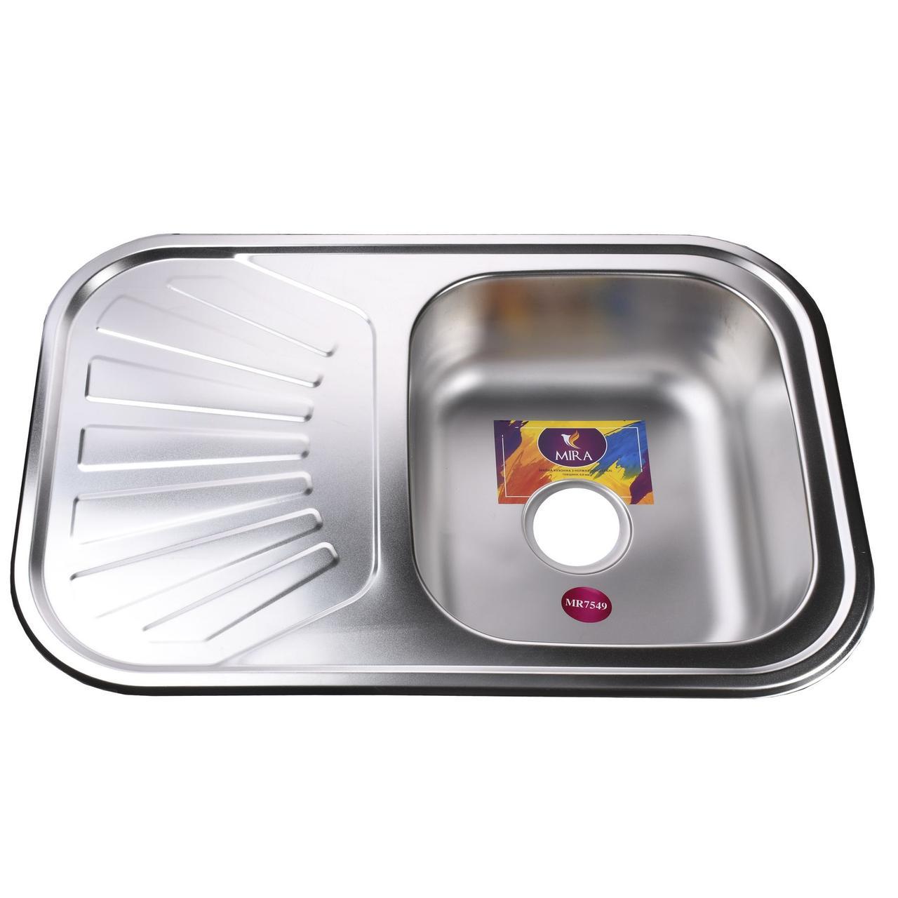 Мойка кухонная Mira MR 7549 E Satin