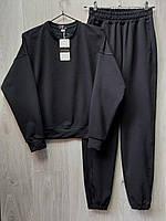 Женский костюм двунитка черный со свитшотом, одежда от производителя