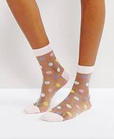 Прозрачные носки с рисунком