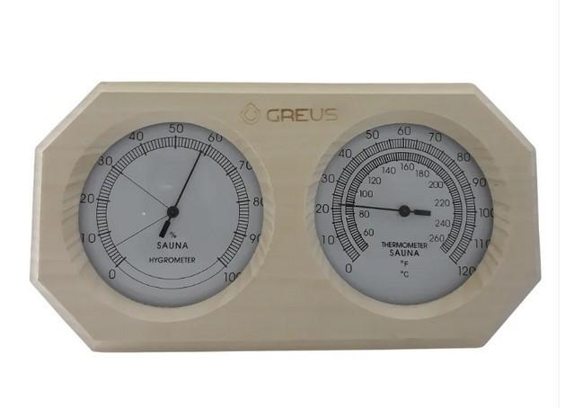 Термогігрометр Greus 26х14 липа для лазні та сауни