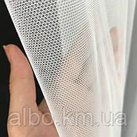 Тюль в спальню з турецького фатину ALBO 300x270 cm Білий (T-F-3), фото 9