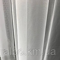 Тюль в спальню з турецького фатину ALBO 300x270 cm Білий (T-F-3), фото 5