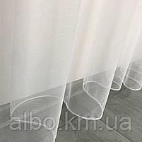 Тюль в спальню з турецького фатину ALBO 300x270 cm Білий (T-F-3), фото 2