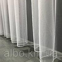 Тюль в спальню з турецького фатину ALBO 300x270 cm Білий (T-F-3), фото 4