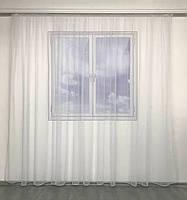Тюль в спальню з турецького фатину ALBO 300x270 cm Білий (T-F-3), фото 7