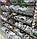 Торговый стеллаж WIKO с сетчатыми полками корзинами в магазин, легкое б/у, фото 3