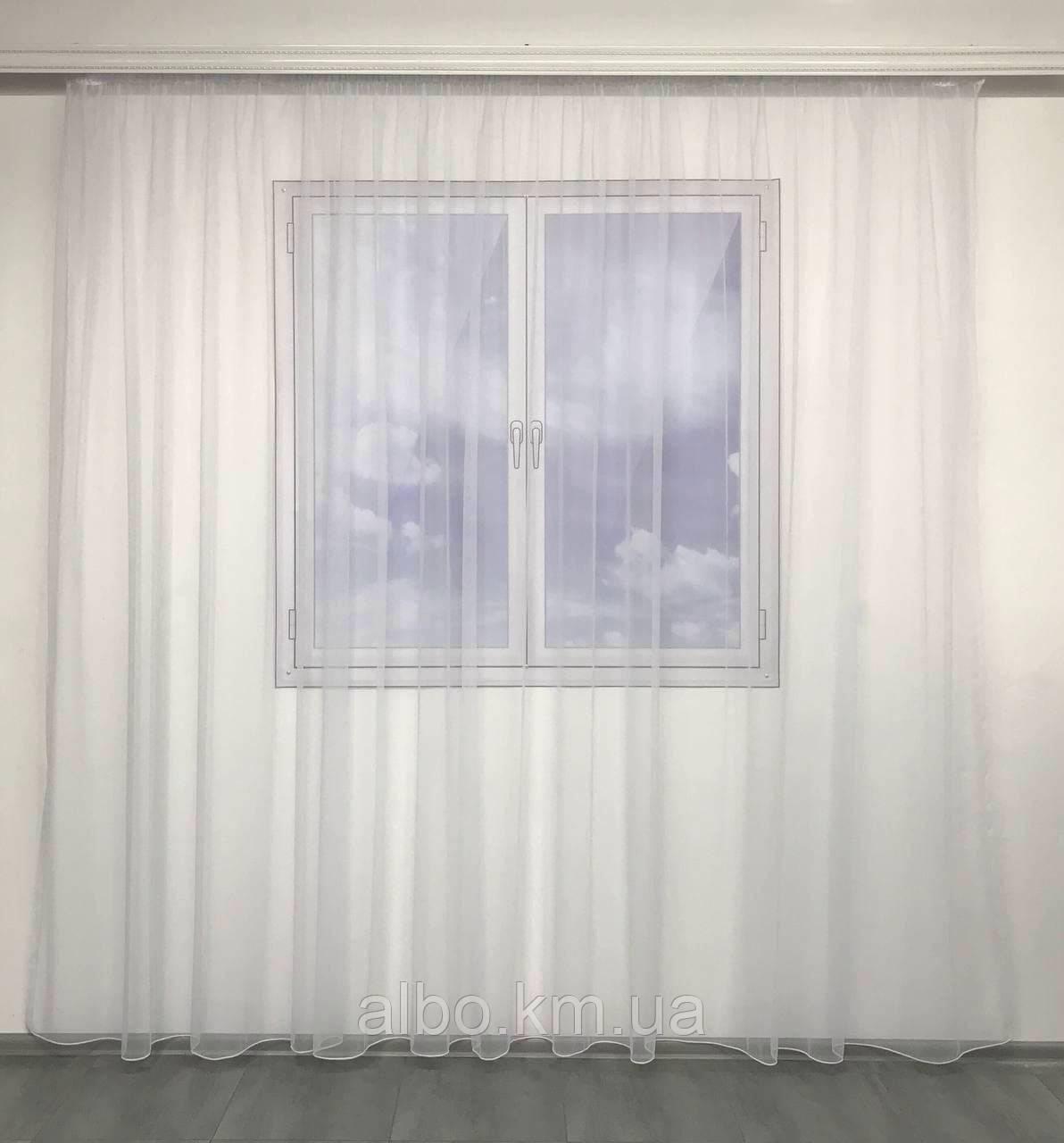 Тюль для вікна на кухню балкон, тюль в вітальню спальню квартиру, тюль в спальню кімнату дитячу з турецького фатину ALBO 500x270