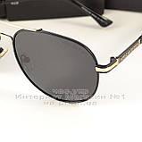 Мужские солнцезащитные очки Porsche Design авиатор качество классика полностью металл реплика, фото 2