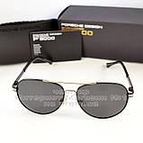 Мужские солнцезащитные очки Porsche Design авиатор качество классика полностью металл реплика, фото 7