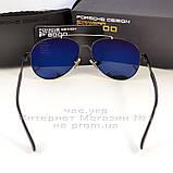 Мужские солнцезащитные очки Porsche Design авиатор качество классика полностью металл реплика, фото 6