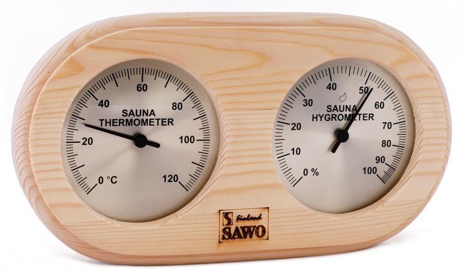 Термогигрометр для бани 2 в 1 Sawo 222-THP