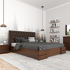 Ліжко дерев'яне двоспальне Камелія з підйомним механізмом