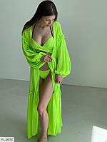 Пляжная накидка парео пляжный халат ткань мульти шифон размер: 42-48