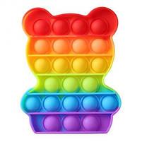Антистресс игрушка Pop It силиконовый поп ит радужный фиджет для рук пупырка, круг, фото 7