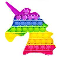 Антистресс игрушка Pop It силиконовый поп ит радужный фиджет для рук пупырка, круг, фото 6