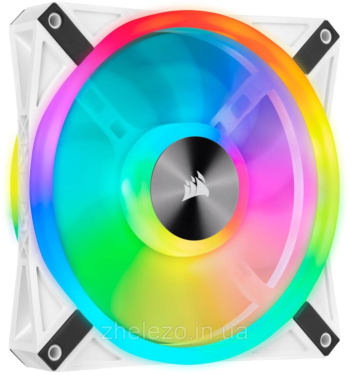 Вентилятор Corsair iCUE QL140 RGB (CO-9050105-WW), 140x140x25мм, 4-pin PWM, белый