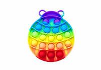 Антистресс игрушка Pop It силиконовый поп ит радужный фиджет для рук пупырка, круг, фото 10