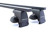 Багажник на дах авто TERRA CLIP на гладку дах c алюмінієвої поперечкою ECONOMY ST з кожухом 1,1 м