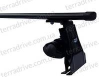 Багажник на дах авто TERRA CLIP на гладку дах c алюмінієвої поперечкою ECONOMY Oval без кожуха 1,1 м