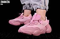 Кроссовки женские для бега и прогулок, цвет розовый,  материал текстиль-сетка и замша, размеры 37,38,39,40, 41