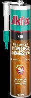 Монтажный клей полиуретановый (жидкие гвозди) Akfix PU610 310 мл прозрачный